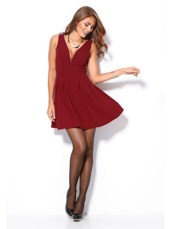 Vestido de Venca con falda capeada (17,99 euros) www.venca.es