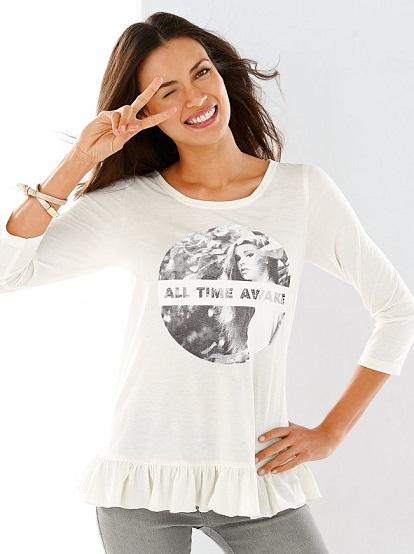 Camiseta de Venca evase con volante. 5,99 euros (www.venca.es)