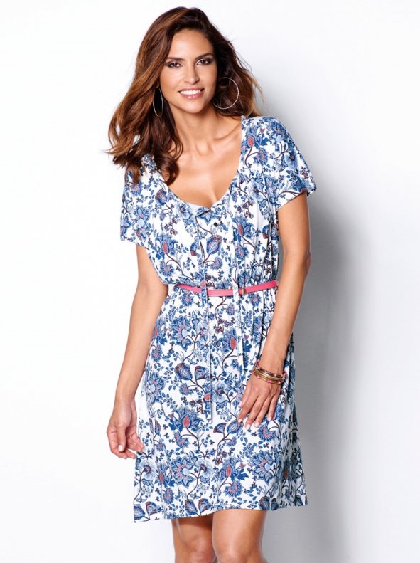 Vestido de punto estampado de Venca 12,99€
