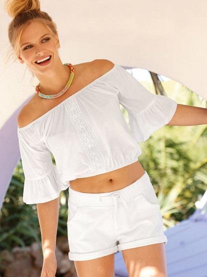 Camiseta de escote barco con guipur (5,99€) de Venca. www.venca.es