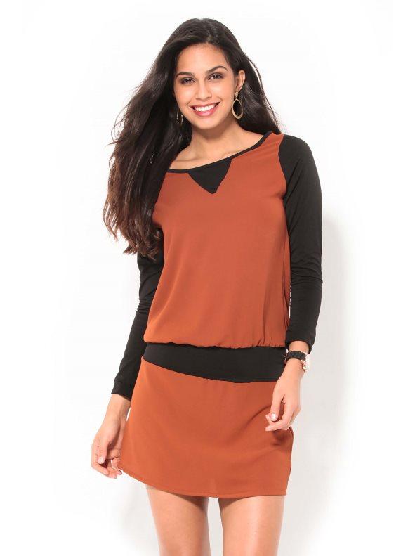 Vestido bicolor de Venca (19,99 €) www.venca.es