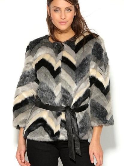 abrigo-pelo-mujer-de-manga-3-4-con-cinturon-de-polipiel-gris-negro