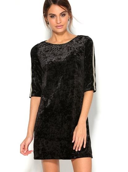 vestido-corto-fiesta-en-punto-de-terciopelo-elastico-con-detalles-dorados-negro-dorado